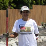 Lucila Caro, Certified Master Gardener, on an HGEL job site