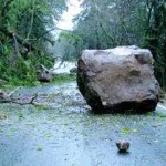 A boulder in the Road